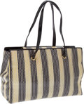 Luxury Accessories:Bags, Judith Leiber Yellow and Black Zig-Zag Pattern Patent Leather &Canvas Bag. ... (Total: 2 Items)