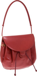 Luxury Accessories:Bags, Judith Leiber Red Calf Drawstring Shoulder Bag. ... (Total: 2Items)
