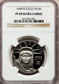 Modern Bullion Coins: , 1998-W P$100 One-Ounce Platinum Eagle PR69 Ultra Cameo NGC. NGCCensus: (784/364). PCGS Population (1460/92). Mintage: 26,0...