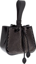 Luxury Accessories:Bags, Heritage Vintage: Alaia Black Leather Studded Wristlet Bag. ...