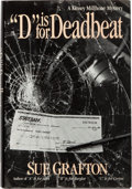 "Books:Mystery & Detective Fiction, Sue Grafton. ""D"" is for Deadbeat. New York: Henry Holt,1987. First edition. Signed by the author...."