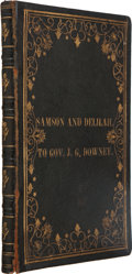 Books:Americana & American History, Herman M. Bien. Samson and Delilah. SF: Commercial SteamPresses, 1860. First edition....