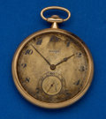 Timepieces:Pocket (post 1900), Agassiz 14k Gold 44 mm Pocket Watch. ...