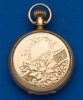 Timepieces:Pocket (pre 1900) , Illinois 4 Size 14k Gold Hunters Case. ...