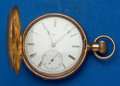 Timepieces:Pocket (pre 1900) , Elgin 10k Gold Hunter's Case 10 Size Pocket Watch. ...