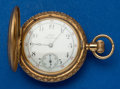 Timepieces:Pocket (post 1900), Waltham O Size 14k Gold Hunter's Case Pocket Watch. ...