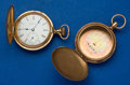 Timepieces:Pocket (post 1900), Elgin O Size Gold Filled Multicolor Hunter's Case and A 10k RoseGold O Size Case Only. ...