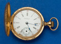 Timepieces:Pocket (post 1900), Waltham 14k Gold O Size Hunter's Case Pocket Watch. ...