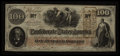 Confederate Notes:1862 Issues, J. Whatman Watermark T41 $100 1862.. ...