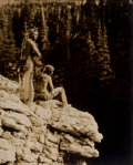 Photographs:20th Century, ROLAND REED (American, 1864-1934). Untitled (Two AmericanIndians Overlooking Cliff), 1912. Vintage gelatin silver.9-3/...