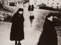Photographs:20th Century, MARIO GIACOMELLI (Italian, 1925-2000). La Gente Del Sud,Scanno, 1959. Platinum, printed later. 10 x 13-1/8 inches(25.4...