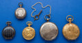Timepieces:Pocket (post 1900), Five Swiss Pocket Watches. ... (Total: 5 Items)