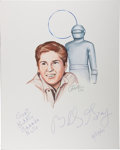 Autographs:Celebrities, Billy Gray. Signed and Inscribed Original Portrait. [N.p.], 6/17/2001. Signed by Gray and artist John Tibbetts....