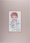 Autographs:Celebrities, Marion Ross. Signed and Inscribed Original Portrait. [N.p.], 2008.Signed by Ross and artist John Tibbetts....
