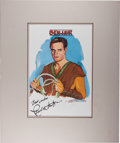 Autographs:Celebrities, Charlton Heston as Ben-Hur. Signed and Inscribed Original Portrait.[N.p.], 1996. Signed by Heston and artist John Tibbetts...