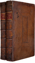 Books:Religion & Theology, [Bernard Mandeville]. The Fable of the Bees: or, Private Vices,Publick Benefits. London: Tonson and Roberts, 17... (Total: 2Items)