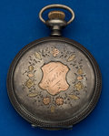 "Timepieces:Pocket (post 1900), Swiss ""Jas. Rollins"" 17 Jewel Sterling Hunter's Case Pocket Watch. ..."