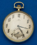 Timepieces:Pocket (post 1900), Omega 17 Jewel 14k Gold Pocket Watch. ...