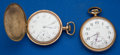 Timepieces:Pocket (post 1900), Two Illinois 21 Jewel 16 Size Pocket Watches Runners. ... (Total: 2 Items)