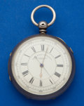 Timepieces:Pocket (pre 1900) , Swiss 11 Jewel Centre Seconds Chronograph Pocket Watch. ...