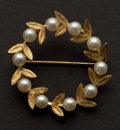 Estate Jewelry:Brooches - Pins, Fine 14k Gold & Pearl Brooch. ...