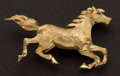 Estate Jewelry:Brooches - Pins, Estate 14k Gold Horse Brooch. ...