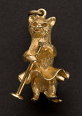 Estate Jewelry:Other , Skirted Kitty 14k Gold Charm. ...