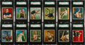 Boxing Cards:General, 1910 T218 Mecca/Hassan Champions SGC Graded Partial Set (84/153)....