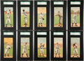 Baseball Cards:Sets, 1911 T201 Mecca Double Folders SGC Graded Partial Set (26/50). ...