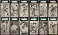 Baseball Cards:Sets, 1934 R313A Gold Medal Flour Complete Set (12) - #1 on the SGC Set Registry!...
