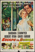 "Movie Posters:Adventure, Escape to Burma (RKO, 1955). One Sheet (27"" X 41""). Adventure.. ..."