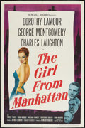 "Movie Posters:Drama, The Girl from Manhattan (United Artists, 1948). One Sheet (27"" X 41""). Drama.. ..."