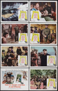 """Movie Posters:War, The Guns of Navarone (Columbia, 1961). Lobby Card Set of 8 (11"""" X14""""). War.. ... (Total: 8 Items)"""