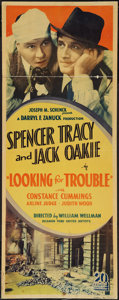 "Movie Posters:Crime, Looking for Trouble (United Artists, 1934). Insert (14"" X 36"").Crime.. ..."