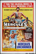 "Movie Posters:Action, Hercules/Hercules Unchained Combo (Avco Embassy, R-1973). One Sheet(27"" X 41""). Action.. ..."