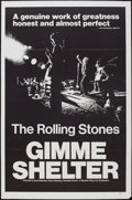 "Movie Posters:Rock and Roll, Gimme Shelter (20th Century Fox, 1970). One Sheet (27"" X 41""). Rock and Roll.. ..."