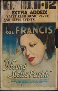 "Movie Posters:Drama, I Found Stella Parish (Warner Brothers, 1935). Window Card (14"" X 19.5""). Drama.. ..."