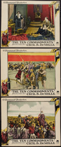 """Movie Posters:Drama, The Ten Commandments (Paramount, 1923). Lobby Cards (3) (10"""" X12.5""""). Drama.. ... (Total: 3 Items)"""