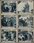 """Movie Posters:Serial, The Black Coin (Stage and Screen Productions, 1936). Lobby Cards (6) (11"""" X 14""""). Serial.. ... (Total: 6 Items)"""