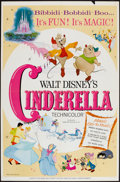 """Movie Posters:Animation, Cinderella (Buena Vista, R-1965). One Sheet (27"""" X 41""""). Style A. Animation.. ..."""