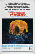 "Movie Posters:War, The Bridge at Remagen (United Artists, 1969). One Sheet (27"" X 41"")Style B. War.. ..."
