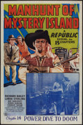 """Movie Posters:Serial, Manhunt of Mystery Island (Republic, 1945). One Sheet (27"""" X 41""""). Chapter 14 -- """"Power Dive to Doom."""" Serial.. ..."""