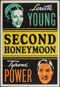 """Movie Posters:Comedy, Second Honeymoon and Other Lot (20th Century Fox, 1937). Leader Press One Sheets (2) (28"""" X 41""""). Comedy.. ... (Total: 2 Items)"""