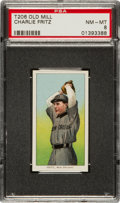Baseball Cards:Singles (Pre-1930), 1909-11 T206 Old Mill Charlie Fritz PSA NM-MT 8 - Finest ConfirmedOld Mill Known! ...