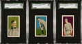Baseball Cards:Lots, 1910 E96 Philadelphia Caramel SGC 80 EX/NM 6 Trio (3) - Each TheHighest SGC Grade Available....