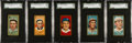 Baseball Cards:Lots, 1911 T205 Gold Borders SGC 80 EX/NM 6 Collection (5). ...