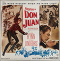 "Movie Posters:Swashbuckler, The Adventures of Don Juan (Warner Brothers, 1948). Six Sheet (81"" X 81""). Swashbuckler.. ..."