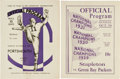 Football Collectibles:Programs, 1932 Green Bay Packers vs. Staten Island Stapletons and 1933 Portsmouth Spartans Programs (2)....