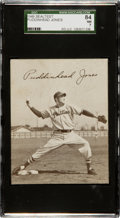 Baseball Cards:Singles (1940-1949), 1949 Sealtest Ice Cream Puddinhead Jones SGC 84 NM 7 - Pop Two,None Higher!...