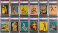 "Non-Sport Cards:Sets, 1944 R59 Gum Inc. ""American Beauties"" Near Set (23/24) - #13 on thePSA Set Registry. ..."